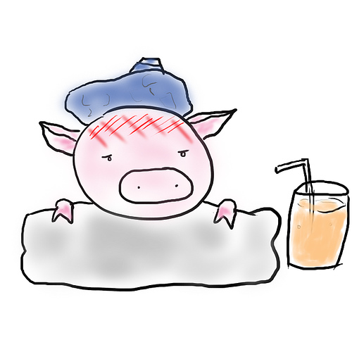 Sick_Pig_Cartoon